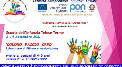 PON SCUOLA DELL'INFANZIA- SETTEMBRE 2021